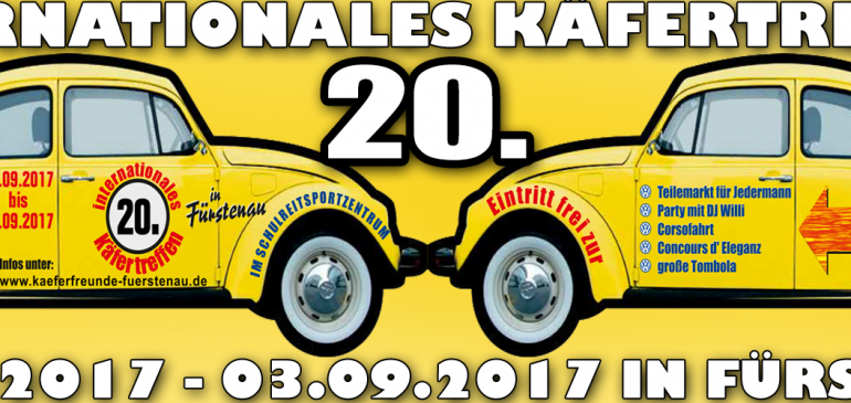 20. Internationales Käfertreffen vom 01.-03. September 2017 in Fürstenau